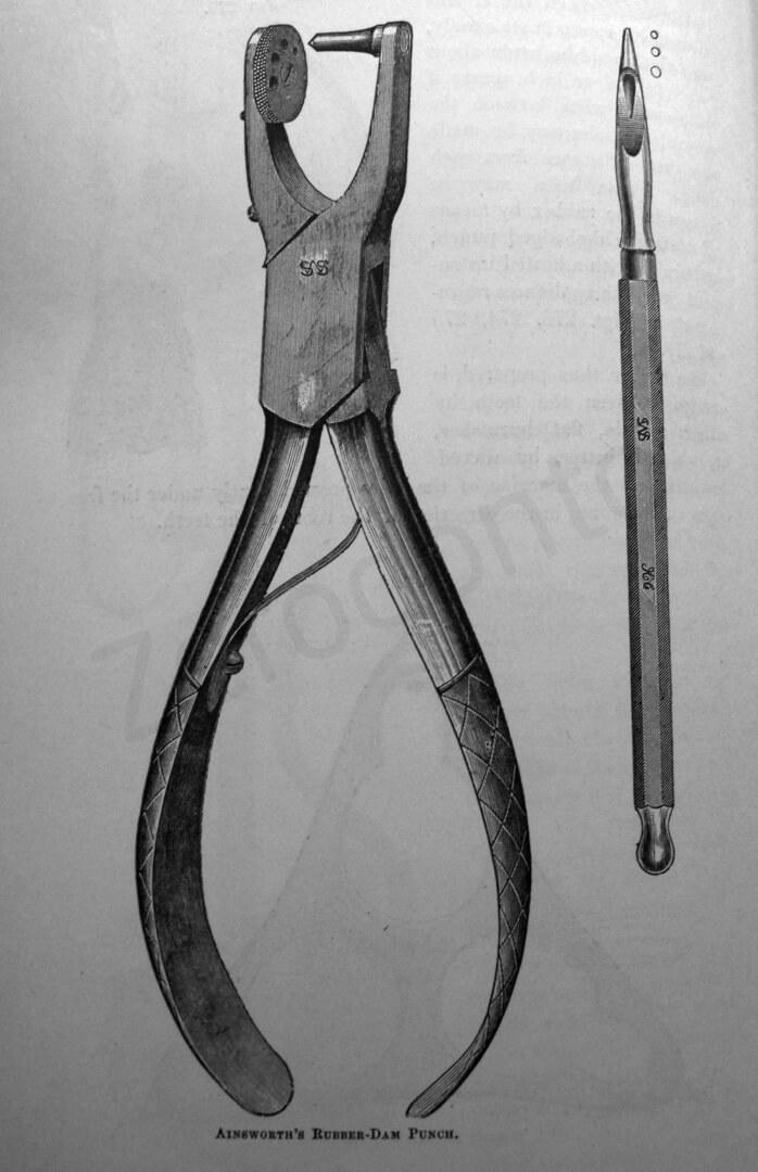 La pinza foradiga introdotta dalla S. S. White nel 1882.