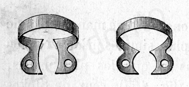 Fig. 3. B. . Gli uncini metallici disegnati dal Dr. Stokes.