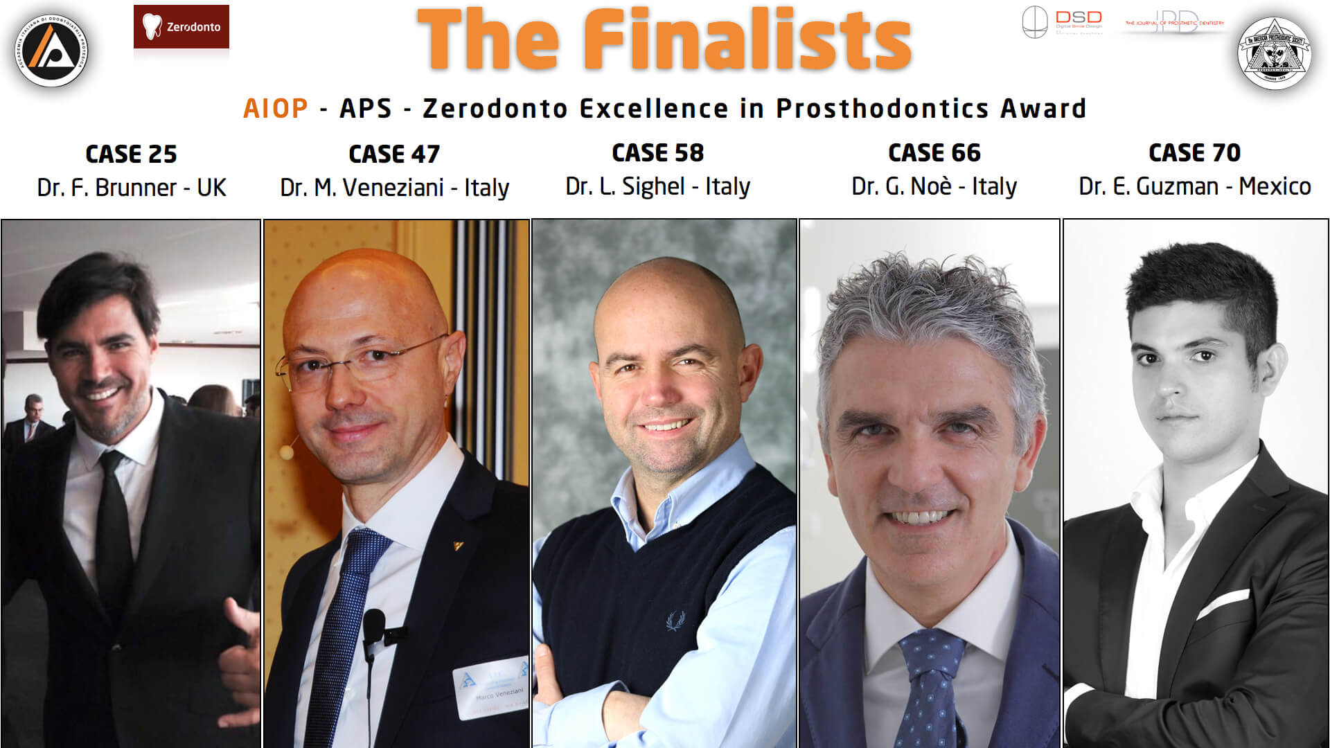 The FINALISTS of the Excellence in Prosthodontics Award 2015!