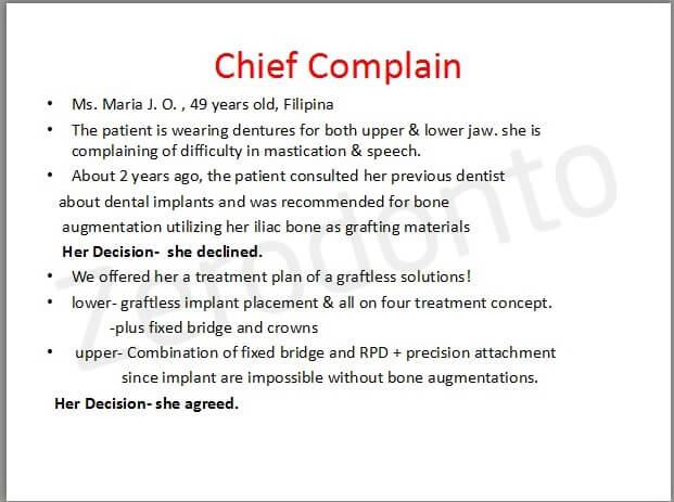29- chief complain